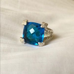 David Yurman Cushion on Point Hampton Blue Topaz